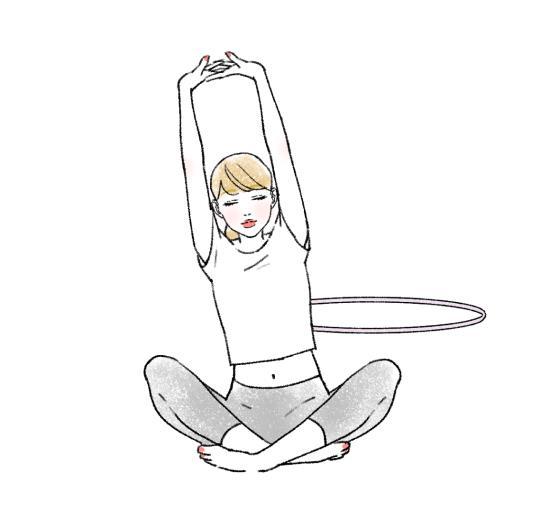 フラフープせず体を休ませる日を作る
