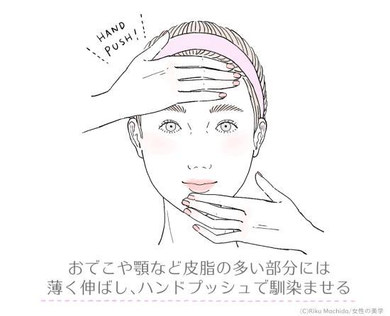 おでこや顎など皮脂の多い部分のサラ肌作りに