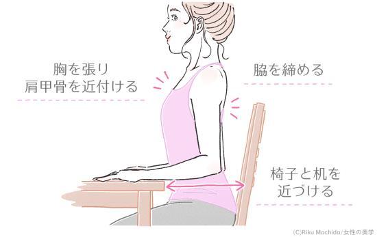 姿勢を改善する