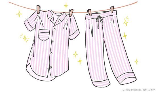パジャマ・シーツは清潔な状態を保つ