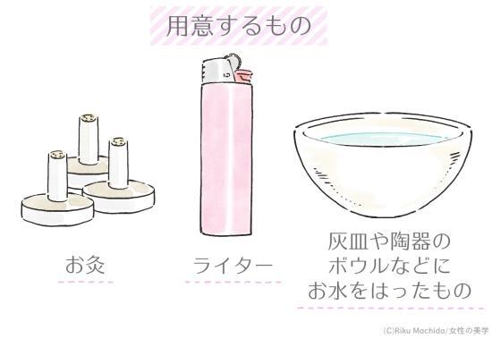 お灸で用意するもの
