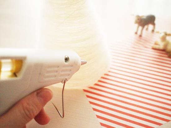クリアファイルのクリスマスツリーの作り方の手順