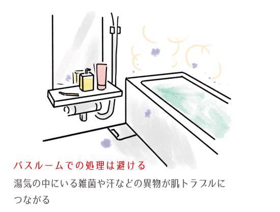 入浴後はOK、入浴中はNG