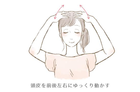 頭皮マッサージのやり方