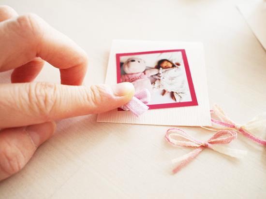 子どもの写真入りメッセージカードの作り方の手順