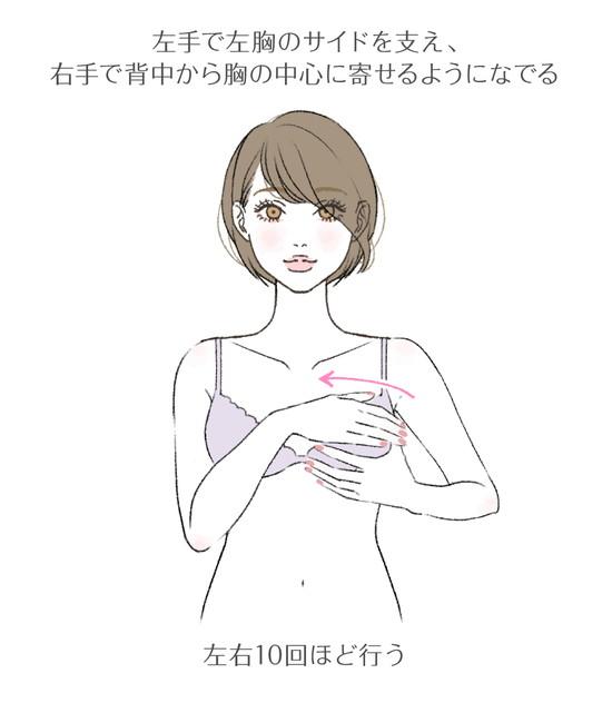 離れ乳改善マッサージのやり方