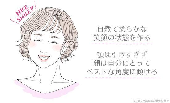 笑うのではなく、笑顔を作ることを意識する