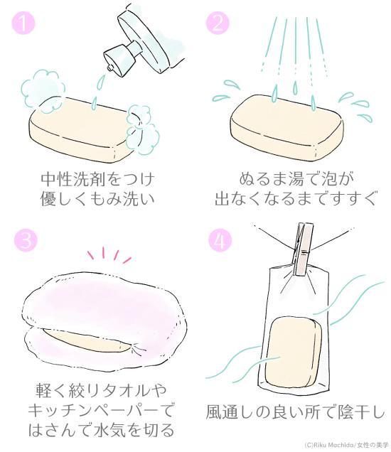 スポンジの洗い方