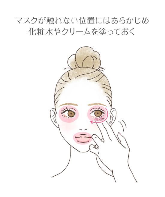 マスクから露出する部位を保湿