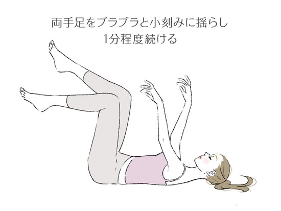寝転んでゴキブリ運動のやり方