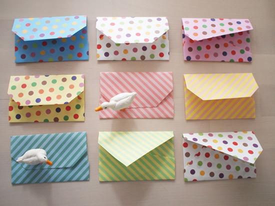 折り紙で作るミニ封筒