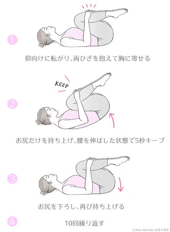 縮んだ腰を伸ばす運動のやり方